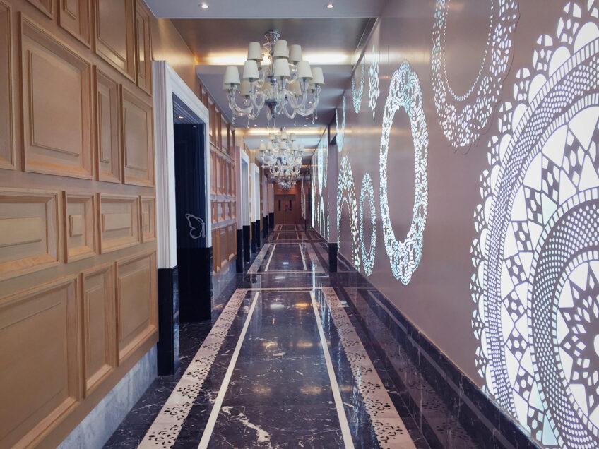 That Pretty Restaurant Hallway