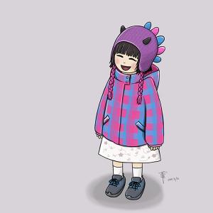 Doodle: Girl on Skytrain